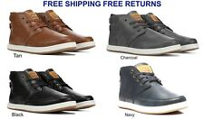 Levi's Footwear Men's Atwater Burnish Charcoal Leather Fashionable Casual Comfor