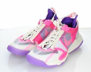 M49 NEW $130 Women Sz 6 M Nike Jordan Delta Textile Lace Up Sneakers Purple/Pink