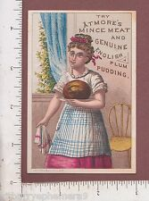 8617 Atmore Mince Meat trade card Plum Pudding 141 S. Front St  Philadelphia, PA