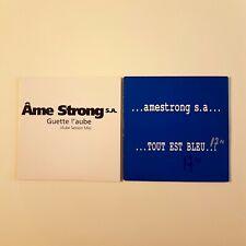 AME STRONG ♦ Lot 2 Promo CD Single ♦ GUETTE L'AUBE (REMIX) + TOUT EST BLEU