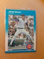 1987 Fleer # 570 Jamie Moyer Rookie Chicago Cubs Baseball Card, SP, RP, CP, ERA.