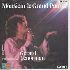 POCHETTE 45 TOURS UNIQUEMENT - GERARD LENORMAN : MONSIEUR LE GRAND PATRON