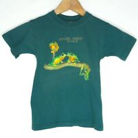 Vintage Natural Friends Australia NT Kids T-Shirt Size 4 Green Gooses Rainforest