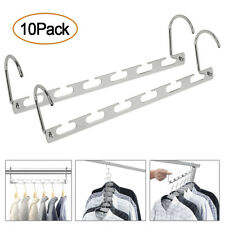 10Pack Metal Wonder Magic Closet Hanger Organizer Hook Space Saving Clothes Rack