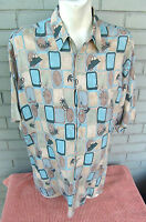 Lord & Taylor Hawaiian Pineapple Martini Cocktails Shirt Size Large