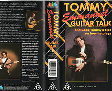 TOMMY EMMANUEL-GUITAR TALK plus Music Booklet- VHS -NEW & SEALED - Learn to Play
