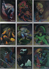 SPIDERMAN ULTRA 95 COMPLETE SET OF 9 GOLDEN WEB CARDS