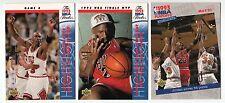 Michael Jordan 1993 Upper Deck Retro NBA Playoffs HIghlights 3 Card lot Mint