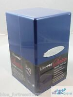 ULTRA PRO BLUE SATIN TOWER DECK BOX COMPARTMENT FOR DICE MTG WoW POKEMON