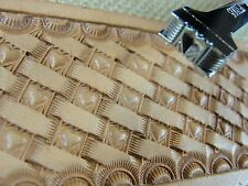 Pro Crafters Series - Heart Center Basket Weave Stamp (Leather Stamping Tool)