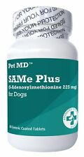 Pet MD SAMe Plus S-Adenosyl for Dogs Hepatic Liver Supplement and Cognitive S...