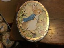 BRAND NEW!! Peter Rabbit oval Tin, 10.5x7.5x4cms, in a hurry!