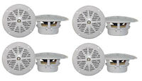 "8)PYLE PLMR41W 4"" 100W Marine Waterproof Boat/Car Audio Stereo Speakers White"