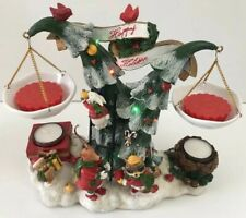 Yankee Candle HAPPY HOLIDAYS Double Tart Warmer MUSICAL Lighted Christmas Tree