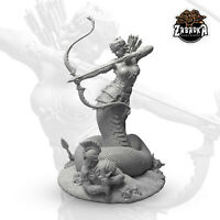 "75mm collectible fantasy miniature, ""Medusa Gorgon"" by Zabavka Workshop"