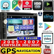 05 06 07 Chrysler 300/300C Double Din Gps Nav W/ Wifi Bluetooth Usb Car Stereo