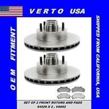 Verto USA Set of 2 Front Disc Brake Rotor 285 mm O/D & Set of Pads with Shims