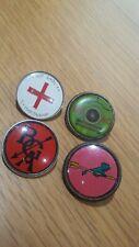 4 X ARCHERY CLUB/ASSOCIATION VINTAGE ACRYLIC PIN BADGES 1970/80s