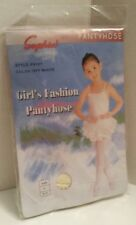New Sophia Girl's Fashion Pantyhose Off-White Size 8-11 Large New