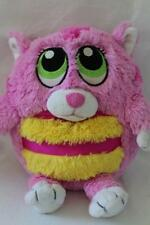 "Soft Stuffed PURRING CAT / KITTEN Plush/Toy Pink/Yellow Sound 9"" (Z10)"