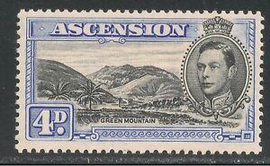 Ascension #44Bd (SG #42c) - 1944 4p Green Mountain & King George VI