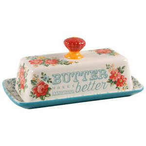Pioneer Woman Vintage Floral 1/4 Lb Covered Butter 11262455