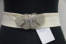 Temperley London Cristal Marfil, Mariposa Beatrice cinturón RRP £ 475