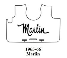 1965 1966 AMC Marlin Trunk Rubber Floor Mat Cover with A-030 Marlin Script