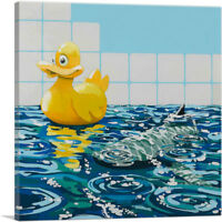 ARTCANVAS Rubber Ducky Canvas Art Print by Banksy