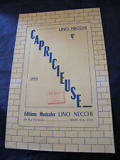 Partition Capricieuse Lino Necchi  Music Sheet