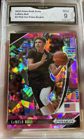 2020-21 Panini Prizm Lamelo Ball Rookie Pink Ice Cracked #3 MINT 9 Hornets SP