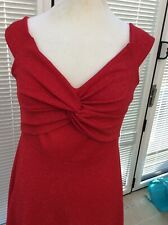 Quiz size 12 red sparkly fitted party dress