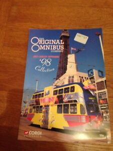CORGI CLASSICS OOC ORIGINAL OMNIBUS CATALOGUE JULY TO SEPTEMBER 1998
