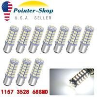 10X 6000K White 1157 3528 Chip 68 SMD LED Tail/Brake/Stop Light Bulbs 1142 7528