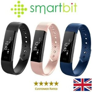 Genuine SMARTBIT Fitbit style Step Counter Smart Watch HeartRate Fitness Tracker