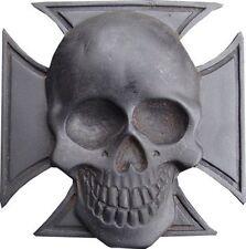 BOUCLE DE CEINTURE SKULL / CRANE / TETE DE MORT- DECO USA / BIKER/ ETATS UNIS