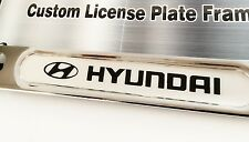 2PC License Plate Frame for HYUNDAI Chrome Genesis Sonata Accent Santa Fe Tucson