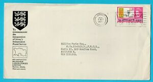 Jersey Inauguration Independent Postal Service 1969 Official Cover Posted to NZ