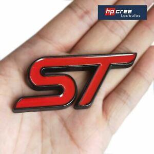 NEW 2021 ST BOOT BADGE RED/BLACK METAL FIT FORD FOCUS MK2 RS KUGA FIESTA MONDEO