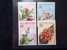 Papua New Guinea: 1986 Native Orchid Set MNH