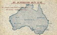Ansichtskarte An Australian Gum Leaf um 1910 Australia Post Card Australien