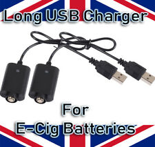 2X LONG USB CHARGER FOR CE4 CE5 CE6 EGO E CIG PEN VAPE SHISHA BATTERIES