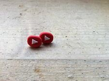 Earrings Studs You Tube Youtube Logo Cute Handmade Nickel Free