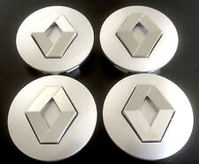 4x RENAULT grey 57mm Badge Hub Caps Hub Cap Hub Caps Rim Lid Center Cap