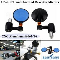 """7/8"""" Motorcycle Handle Bar End Mirrors Scooter Rearview Side View For Cafe Racer"""