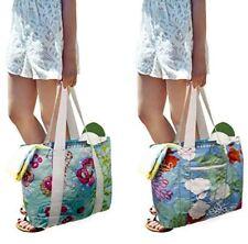 Earthwise Tyvek Reversible Reusable Shopping Tote Beach Pool Travel Bag