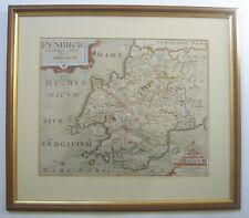 Pembrokeshire: antique map by Kip & Owen, 1607 (1610/37 edition)