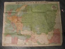DAILY WAR MAP OF THE RUSSIAN FRONT NO 6  ORIGINAL  GREAT COLORS