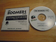 RARE PROMO The Boomers YYZ CD single Art Of Living IAN THOMAS Lunch At Allen's !