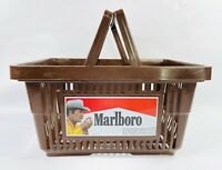 "Vintage '87 Marlboro Man Cigarette Shopping Basket Brown 11 3/4"" X 17"" X 9"" deep"